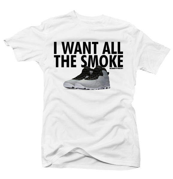 All the Smoke White Tee