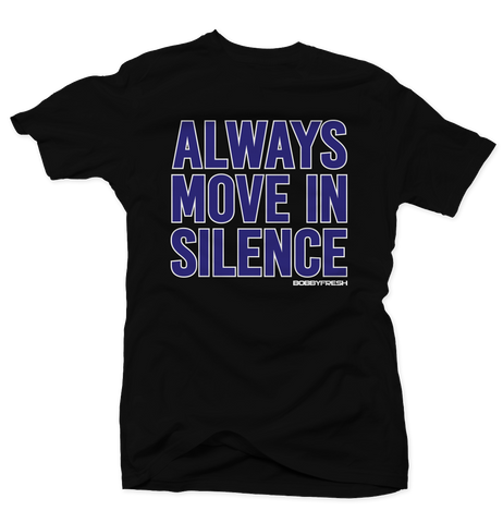Always Move In Silence Space Jam Black Tee