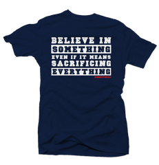 Believe in Something Navy International 12's Tee