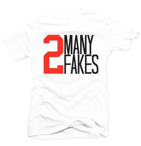 2 Many White/Infrared Tee