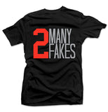 2 Many Black/Infrared Tee