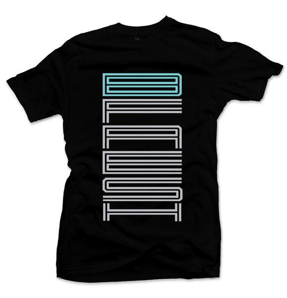 J Text Black/Tiff Blue Tee
