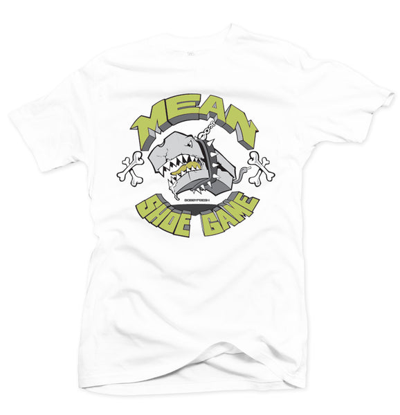 Mean Shoe Game White/Volt Tee