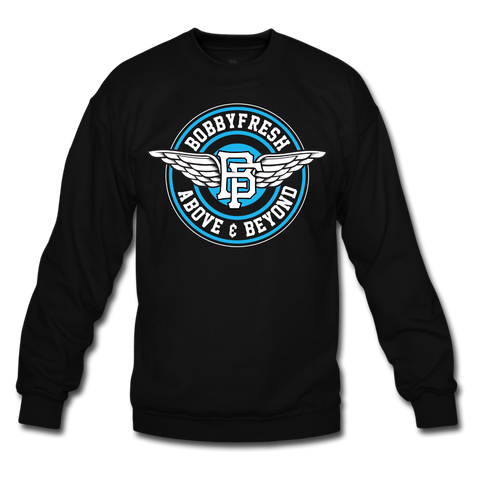 Above and Beyond Black/Powder Blue Crewneck