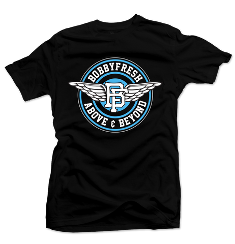 Above and Beyond Black/Powder Blue Tee