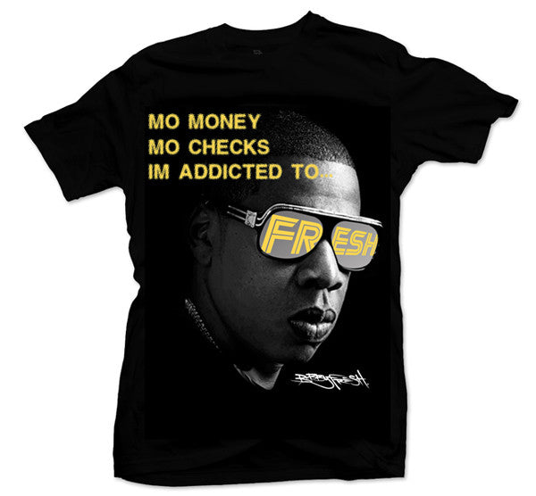 Addicted 2 Fresh Black/Gold Tee - Bobby Fresh