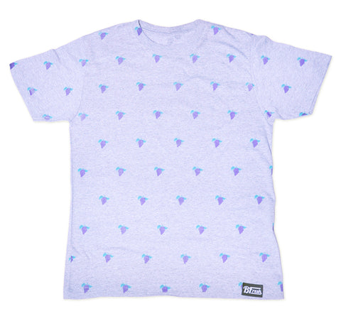 All Over Grape Heather Grey Tee