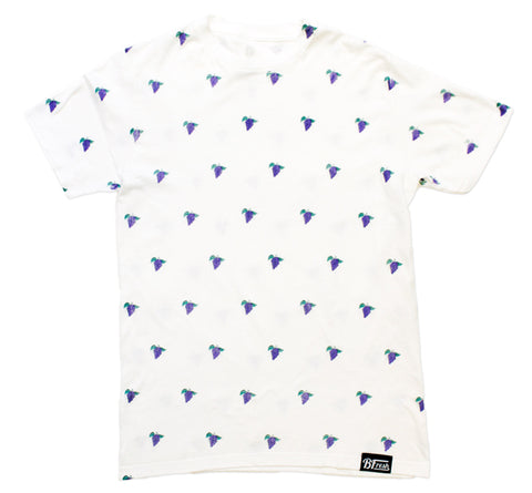 All Over Grape White Tee