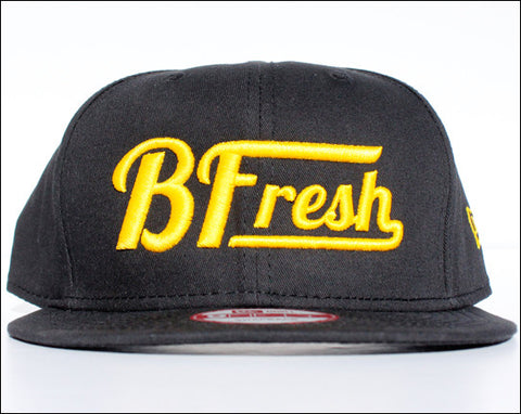 B. Fresh Script New Eraå¨ Black/Yellow Snapback