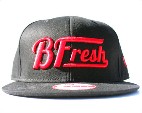 B. Fresh Script New Eraå¨ Black/Red Snapback
