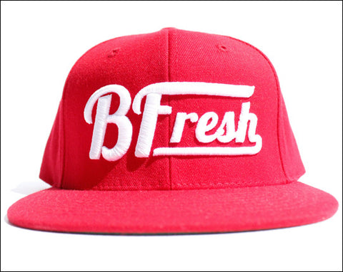 B. Fresh Script Red Snapback