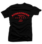 Bakery Black/Red Tee - Bobby Fresh