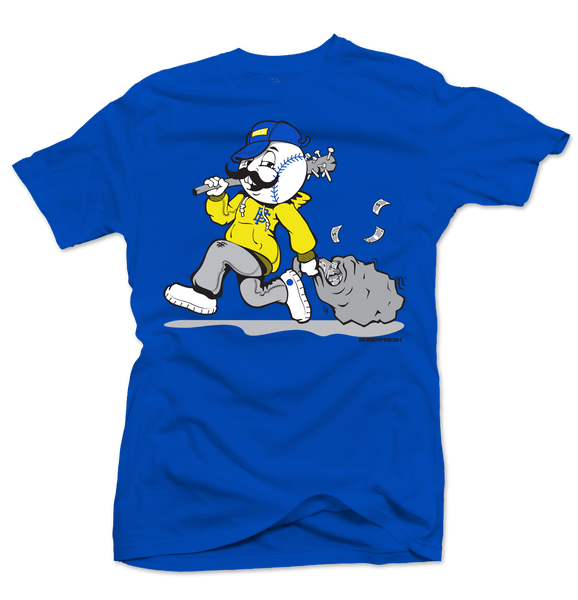 Bandits Royal Blue/Yellow Tee