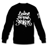 Believe Black/White Crewneck