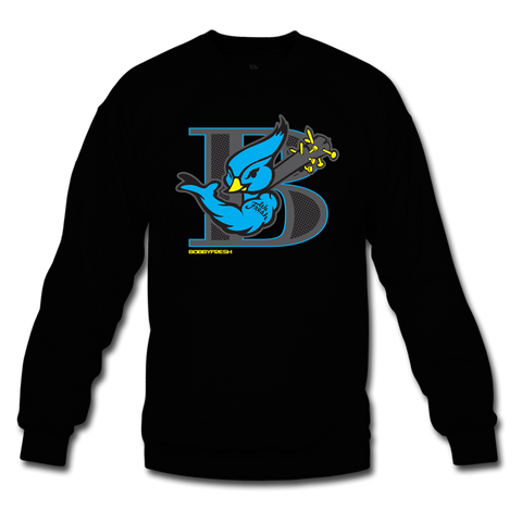 Blue Bird Black Crewneck