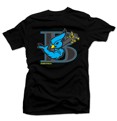 Blue Bird Black Tee