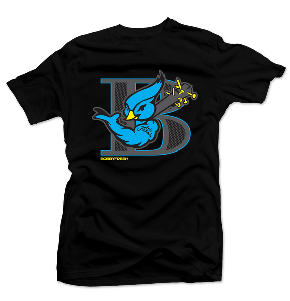 Blue Bird Black/Blue Laney Tee