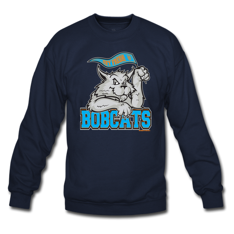 Bobcats Navy/Grey Crewneck