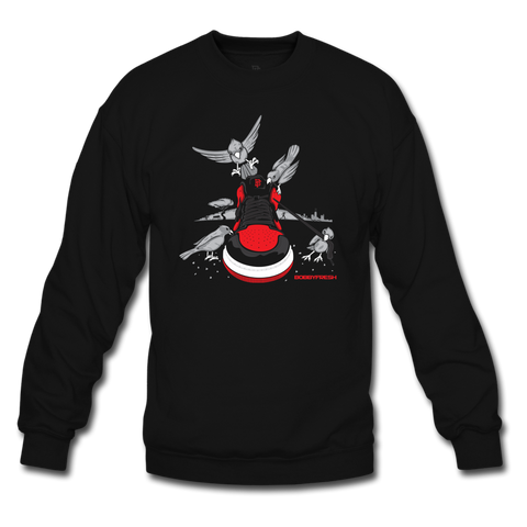 Bread Crumbs Black/Red Crewneck