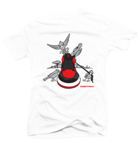 Bread Crumbs White/Red Tee