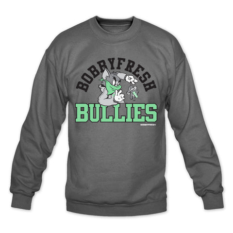 Bully Charcoal/Green Crewneck