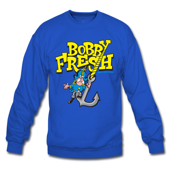 Cap'n Save 'Em Royal Blue/Yellow Crewneck
