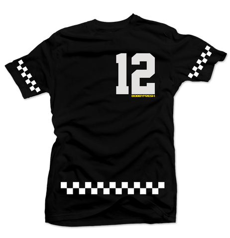 Checkerboard Black/White Tee