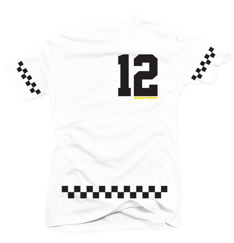 Checkerboard White/Black Tee