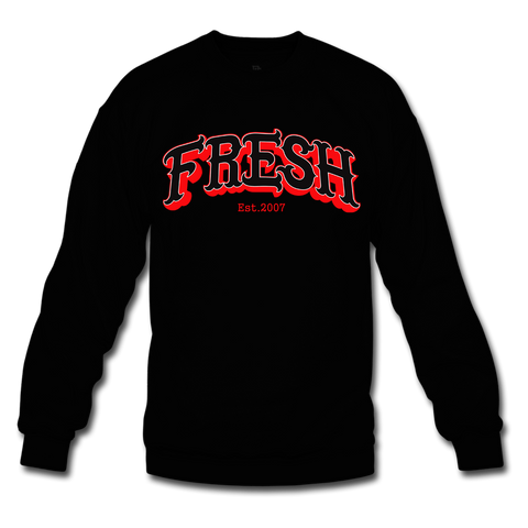 Clean Cut Black/Red Crewneck