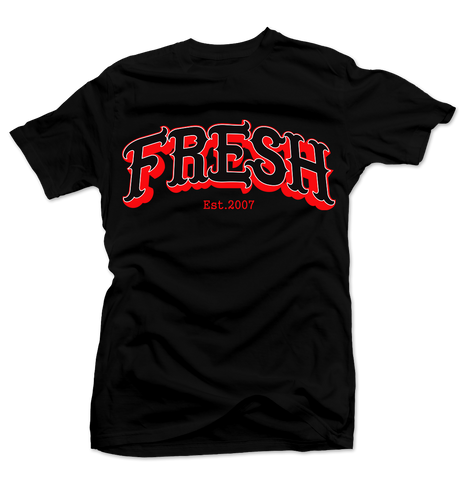 Clean Cut Black/Red Tee