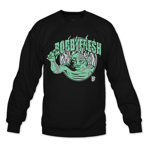 Creature Black/Green Crewneck