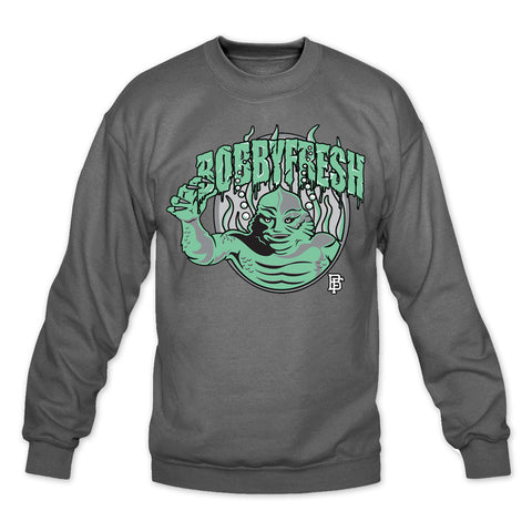 Creature Charcoal/Green Crewneck