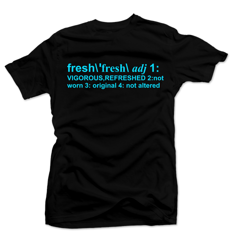 Definition of Fresh Black/Blue Tee
