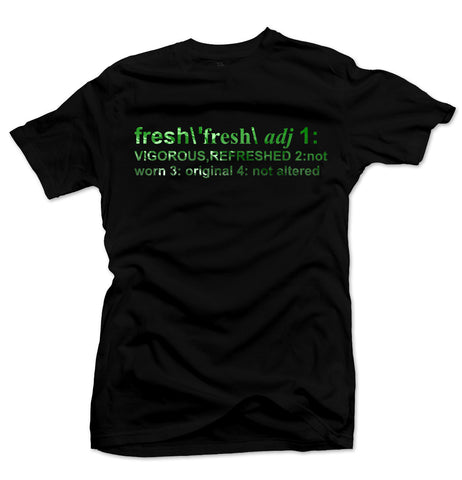 Definition of Fresh Black/Green Metallic Foil Tee