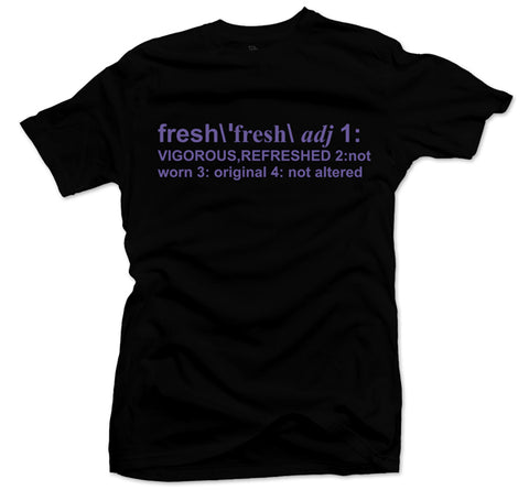 Definition of Fresh Black/Purple Tee
