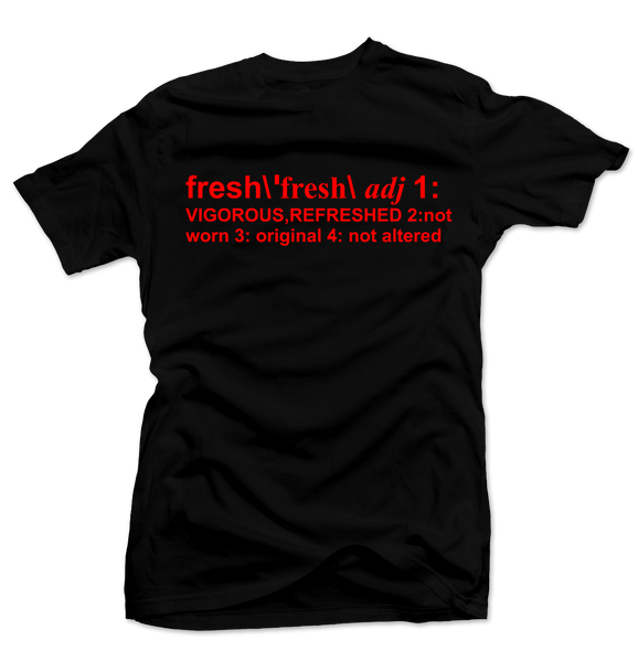 Definition of Fresh Black/Red Tee - Bobby Fresh