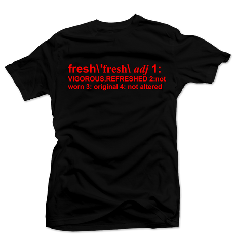 Definition of Fresh Black/Red Tee