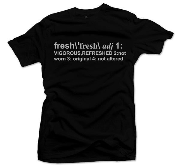 Definition of Fresh Black/Silver Tee - Bobby Fresh