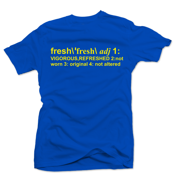 Definition of Fresh Royal Blue/Yellow Tee