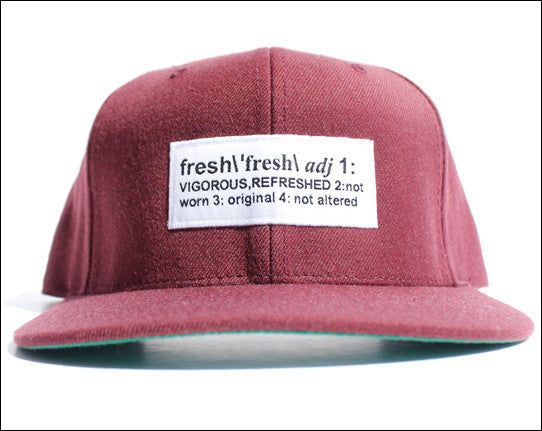 Definition of Fresh Maroon Snapback