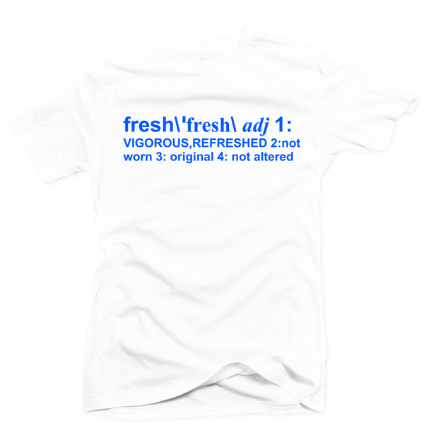 Definition of Fresh White/Royal Blue Tee - Bobby Fresh