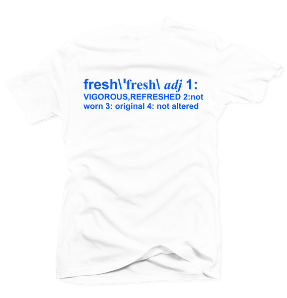 Definition of Fresh White/Royal Blue Tee