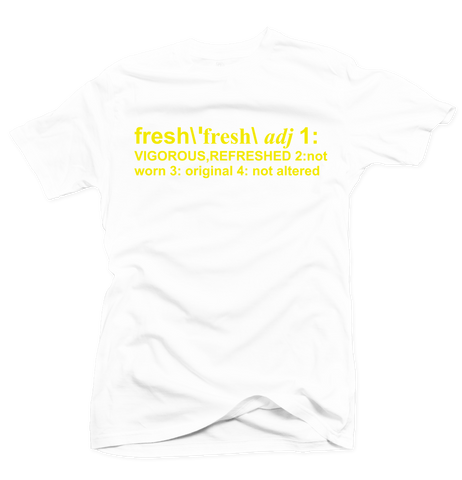 Definition of Fresh White/Yellow Tee