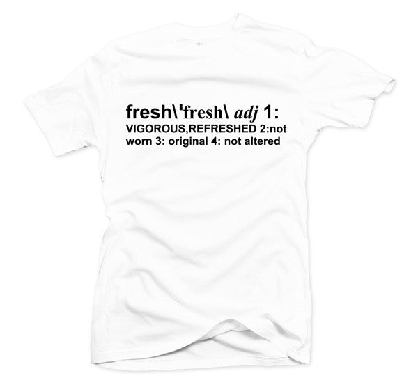 Definition of Fresh White/Black Tee - Bobby Fresh