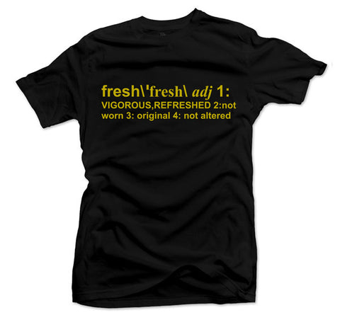 Definition of Fresh Gold Black Tee