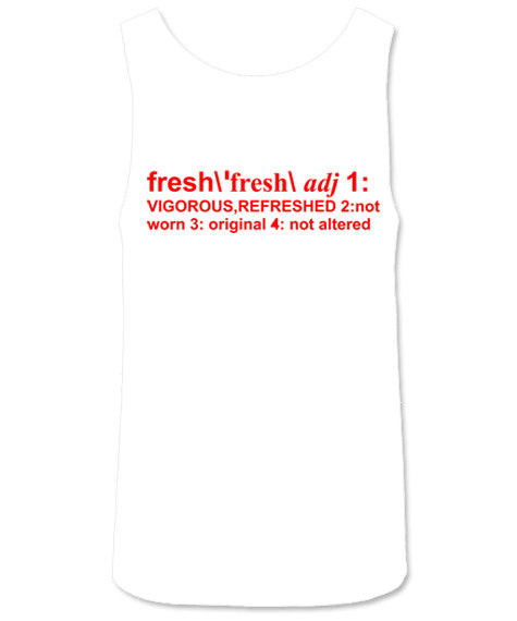 Definition of Fresh White/Red Tank - Bobby Fresh