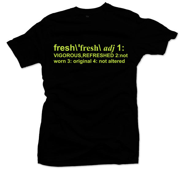 Definition of Fresh Volt Tee - Bobby Fresh