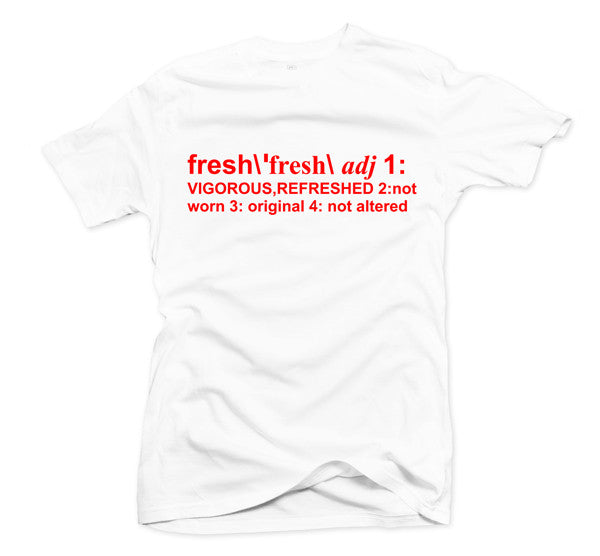 Definition of Fresh White/Red Tee - Bobby Fresh