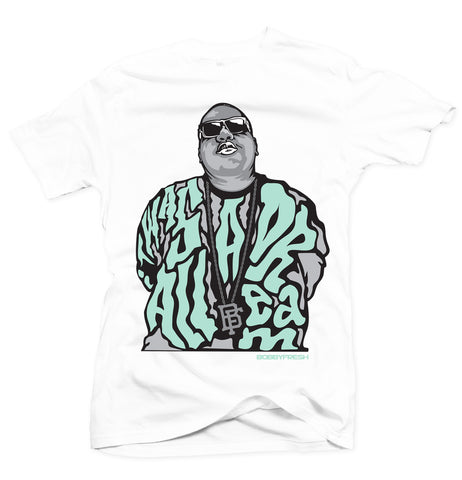 Dream BIG White/Green Tee