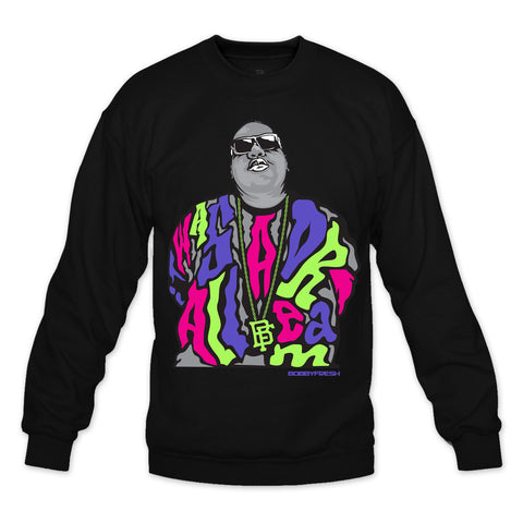 Dream BIG Black/Bel Air Crewneck
